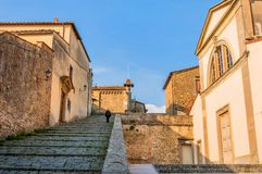 Monastery of San Francesco on the crest of Fiesole hill in Firenze, Italy Stock Photography