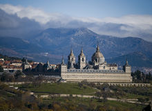 Monastery San Lorenzo El Escorial. Madrid, Spain Royalty Free Stock Image