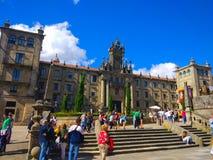 The monastery of San Martiño Pinario Monasterio de San Martín Pinario, Santiago de Compostela, Galicia, Spain stock images