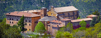 Monastery of San Salvador of Leyre in Spanish Navarra Stock Images