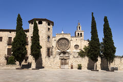 Monastery of Sant Cugat Royalty Free Stock Photography