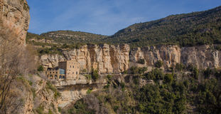 The monastery of Sant Miquel del Fai Royalty Free Stock Photography