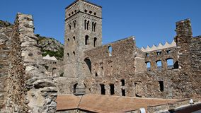 Monastery of Sant Pere de Rodes-Gerona Stock Images