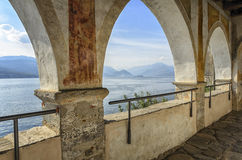 Monastery of Santa Caterina in Varese, Italy. Monastery of Santa Caterina, by Lake Maggiore, Italy Stock Images