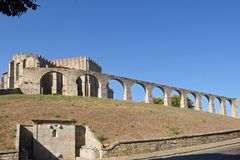 Monastery of Santa Clara and  Aqueduct, Vila do Conde Royalty Free Stock Photography