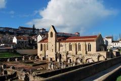 Monastery of Santa Clara a Velha in Coimbra stock photos