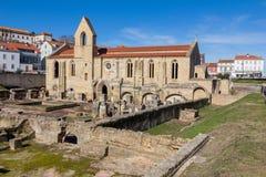 Monastery of Santa Clara Velha in Coimbra, Portugal stock photography