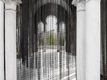Monastery of Santa María de las Cuevas. La Cartuja, Sevilla, Spain . Olaf Nicolai black pearls  curtain 2004. Royalty Free Stock Image