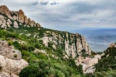 Monastery of Santa Maria de Montserrat in Catalonia, Spain Stock Photography