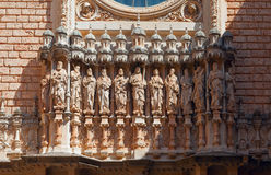 Monastery Santa Maria de Montserrat, Spain Royalty Free Stock Images