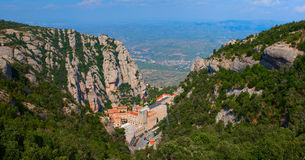 Monastery Santa Maria de Montserrat, Spain Stock Photos