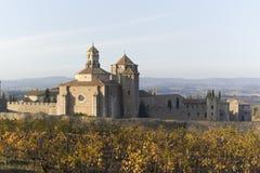 Monastery of Santa Maria de Poblet. Located in the region Conca de Barbera. Tarragona Royalty Free Stock Image