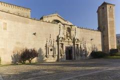Monastery of Santa Maria de Poblet. Located in the region Conca de Barbera. Tarragona Royalty Free Stock Photography
