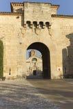 Monastery of Santa Maria de Poblet. Located in the region Conca de Barbera. Tarragona Stock Photos
