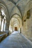 Monastery of Santa Maria de Poblet cloister Stock Image