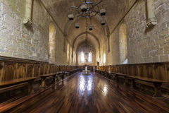 Monastery of Santa Maria de Poblet dining room Royalty Free Stock Photo