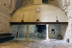 Monastery of Santa Maria de Poblet kitchen stock photos