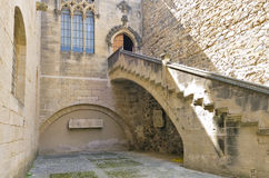 Monastery of Santa Maria de Poblet museum entry Royalty Free Stock Photography