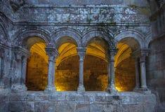 Monastery of Santo Estevo de Ribas de Sil in Galicia, Spain Stock Photo