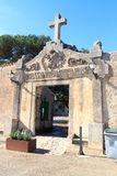 Monastery Santuari de Cura entrance gate on Puig de Randa, Majorca. Spain Royalty Free Stock Photography