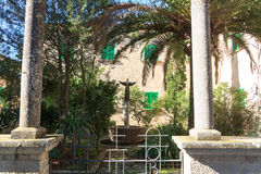 Monastery Santuari de Cura statue on Puig de Randa, Majorca. Spain Stock Images