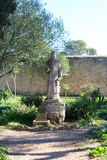 Monastery Santuari de Cura statue on Puig de Randa, Majorca Stock Photo