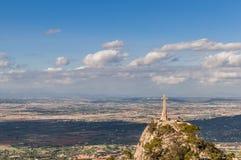 Monastery Santuari de Sant Salvador, Mountain Puig de Sant Salvador Royalty Free Stock Photo