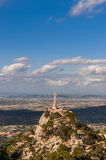 Monastery Santuari de Sant Salvador, Mountain Puig de Sant Salvador Royalty Free Stock Photography