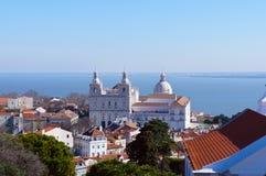 Monastery of Sao Vicente de Fora and Church of Santa Engracia cupola Royalty Free Stock Images