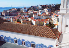 Monastery of Sao Vicente de Fora roof view Royalty Free Stock Image