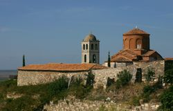 Monastery Shen Meri, Albania Royalty Free Stock Photo