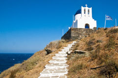 Monastery in Sifnos Stock Photo