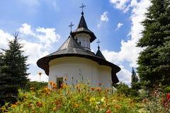 Sihastria Monastery in Romania on a sunny day stock image
