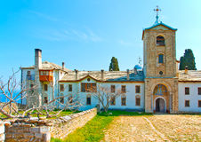 The monastery of Skiti Prodromou Stock Photos