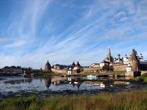 Monastery on Solovki. White Sea. Russian North Stock Photo