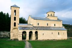 Monastery Sopocani. Serbian orthodox Monastery Sopocani, an endowment of King Stefan Uro� I, built in the second half of the 13th century Royalty Free Stock Photos