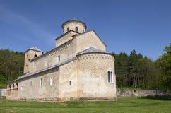 Monastery Sopocani. Orthodox monastery Sopocani in Serbia on a sunny day Royalty Free Stock Photography