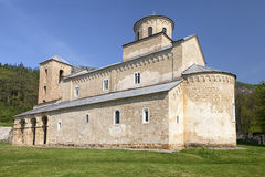 Monastery Sopocani in Serbia stock images