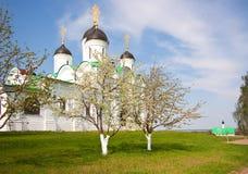 Monastery in spring Stock Image