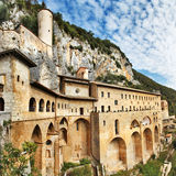 Monastery of St. Benedict .Lazio, Italy Stock Photos