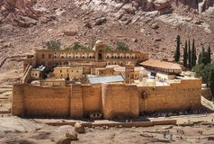 Monastery of St. Catherine. Monastery of Saint Catherine, Sinai, Egypt Stock Images