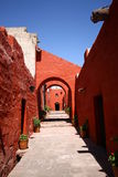 Monastery of St. Catherine. At Arequipa, Peru stock image