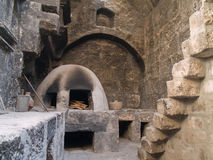 Monastery of St. Catherine. Old kitchen at Monastery of St. Catherine at Arequipa, Peru royalty free stock photo