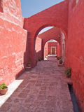 Monastery of St. Catherine. At Arequipa, Peru royalty free stock image