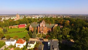 Monastery of St. Catherine in Braniewo stock footage