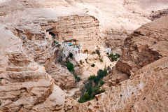 Monastery of St. George in Judean desert. royalty free stock photo