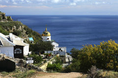 Monastery of St. George. Views of the sea, Crimea, Cape Fiolent Royalty Free Stock Photos