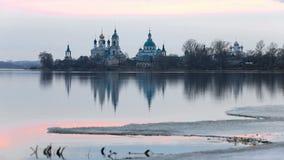 Monastery of St. Jacob Saviour, Rostov, Russia stock footage