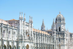The Monastery of St. Jeronimos in Lisbon Portugal Royalty Free Stock Photos