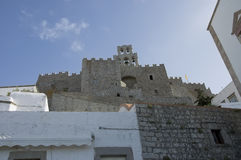 Monastery of St John in Patmos Stock Image